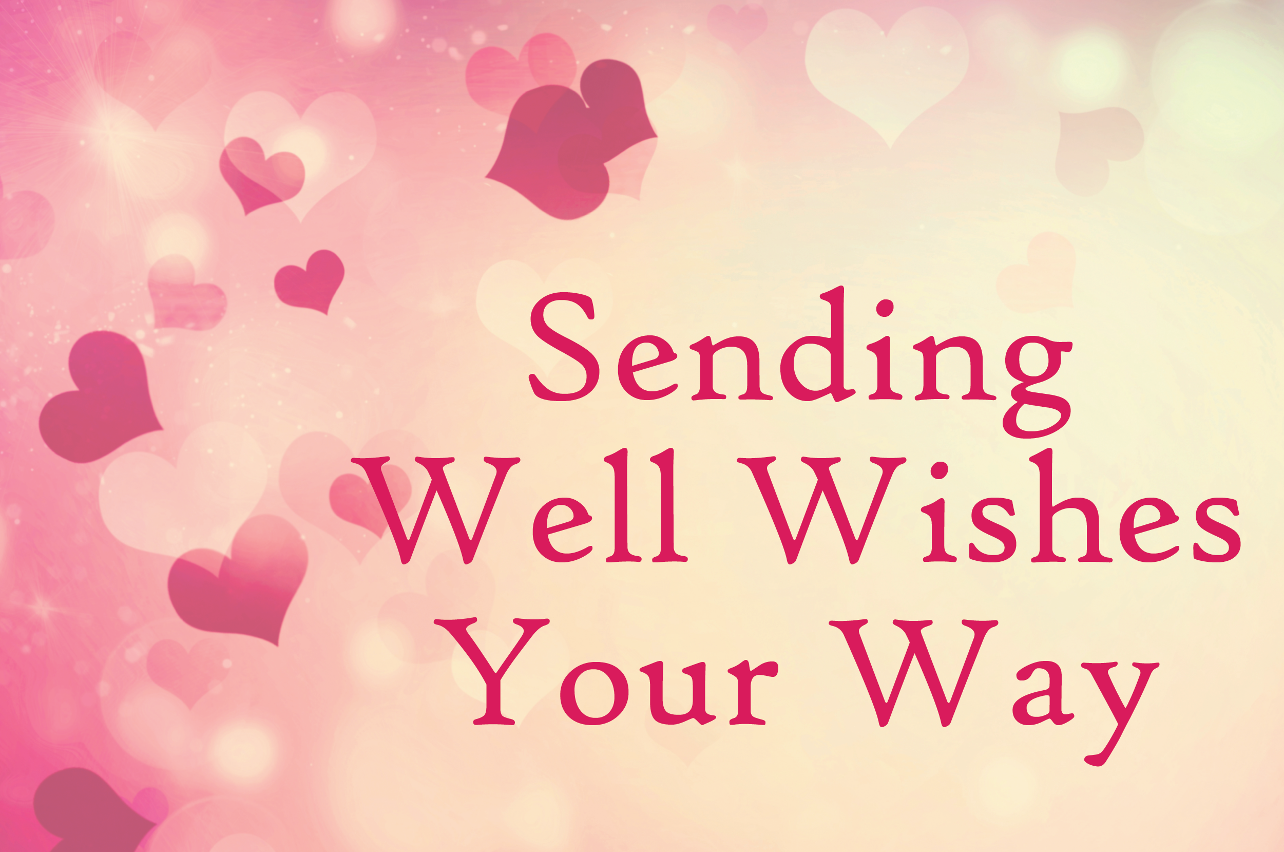 well wishes with hearts card